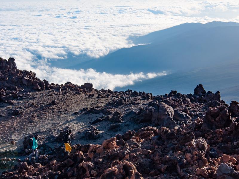 Szlak El Teide ponad chmurami